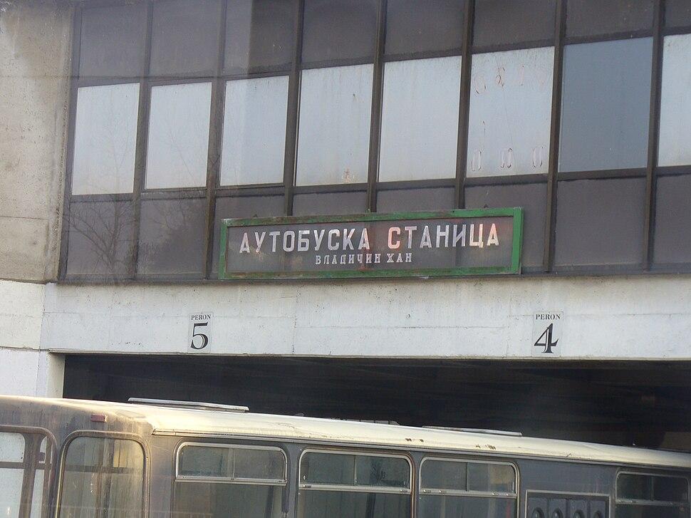 Vladicin Han - bus station