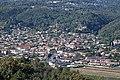 Vue du village de Pégomas depuis la piste DFCI des Harkis (au printemps).jpg