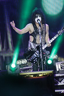 Stanley performing with KISS at Hellfest in 2013