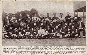 Stan Wickham - Image: Wallabies 1908