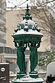 Wallace fountain Place de l'Emir-Abdelkader under snow 2013-03-12 n1.jpg