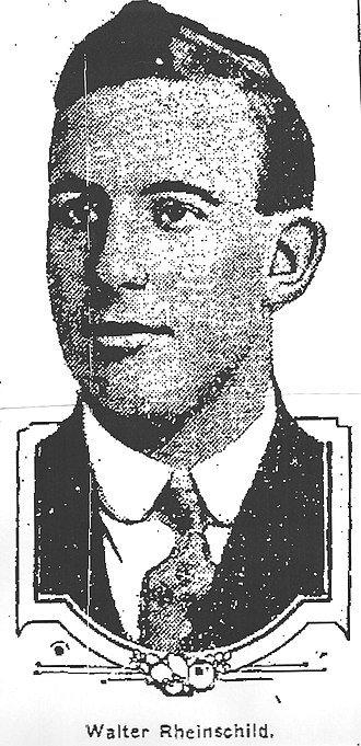 Walter Rheinschild - Image of Rheinschild from 1909 newspaper article announcing his hiring by St. Vincent College