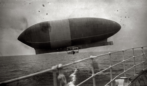 America (airship) - Airship America seen from the deck of the steamship Trent, October 1910.