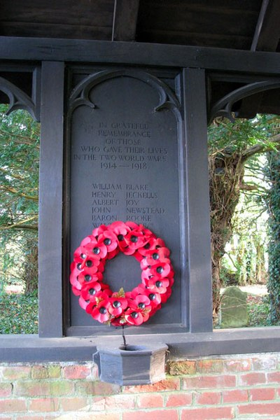 File:War memorial in lych gate at All Saints church - geograph.org.uk - 1692059.jpg