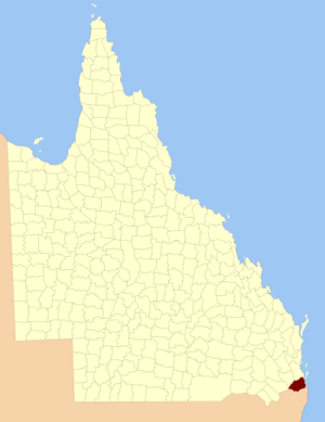 County of Ward, Queensland - Location within Queensland