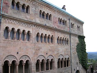 Palas - Palas of the Wartburg, courtyard side