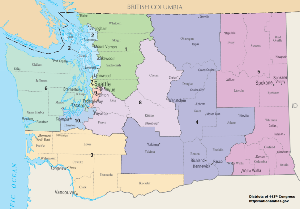 Washington(state) Congressional Districts, 113th Congress