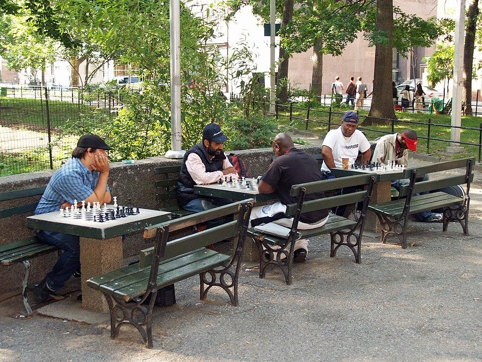 Washington Square Park Chess Players by David Shankbone