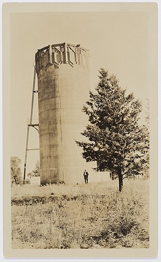 Leeton, New South Wales - Single Burley Griffin Water Tower in 1912/1913