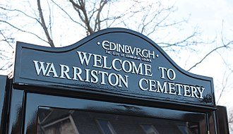 Warriston Cemetery - City of Edinburgh Council notice board installed February 12, 2018