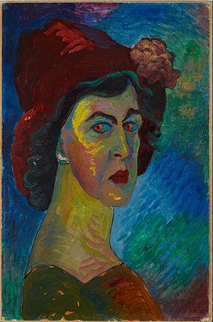 Marianne von Werefkin - Self portrait, circa 1910
