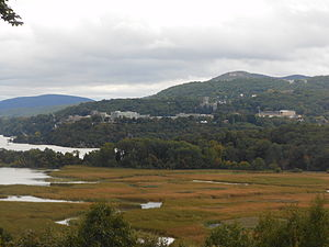 West Point, New York - View of West Point from the eastern shore of the Hudson River