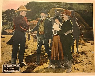 Charles Brinley - Lobby card for The White Outlaw (1925) with Jack Hoxie, Charles Brinley, Marceline Day, and William Welsh