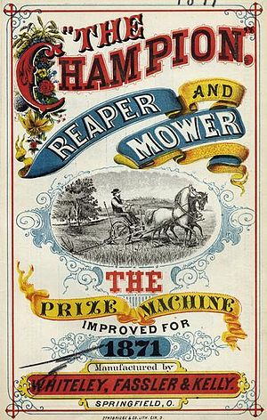 "Benjamin H. Warder - ""Champion"" farm machinery was distributed by multiple companies."