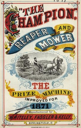 """Benjamin H. Warder - """"Champion"""" farm machinery was distributed by multiple companies."""