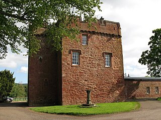 Whittingehame Tower castle in East Lothian, Scotland, UK