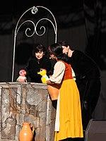 Wiesbaden Stadtfest 2013 Velvets Theater Making Off 01 Schneewittchen.JPG