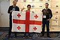 Wikimedians with Georgian Flag at Wikimedia Summit 2019.jpg