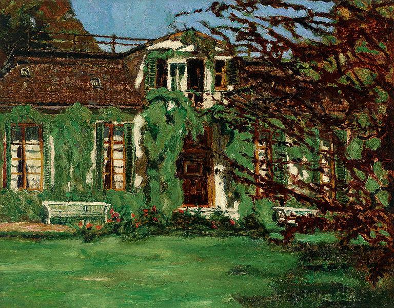 File:Wilhelm Trübner Villa zur Frühlingszeit.jpg