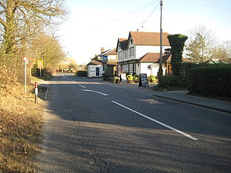 Normandy, Surrey - Willey Green, A323 Guildford Road and The Duke of Normandy PH