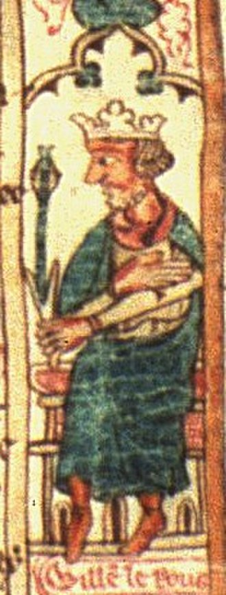 William II of England - William II, depicted c. 1310