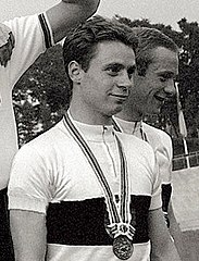Willi Fuggerer and Klaus Kobusch 1964.jpg