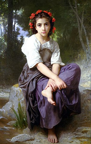 At the Edge of the Brook by William-Adolphe Bouguereau