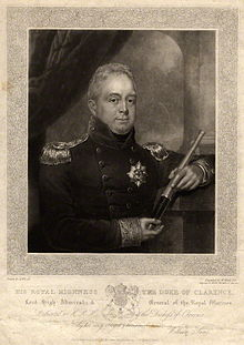 William, as Lord High Admiral, print by William James Ward, after Abraham Wivell's painting, first published in 1827 (Source: Wikimedia)
