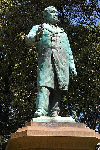 William Bede Dalley - A (vandalised) statue of Dalley in Sydney