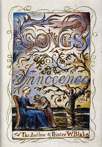 William Blake - Songs of Innocence (Title page...