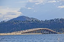 William R. Bennett Bridge from Kelowna City Park.
