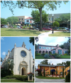 Images from top, left to right: Downtown Winter Park Historic District، Knowles Memorial Chapel، Robert Bruce Barbour House، Albin Polasek House and Studio