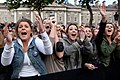 Women cheer Barack Obama in Dublin, Ireland.jpg