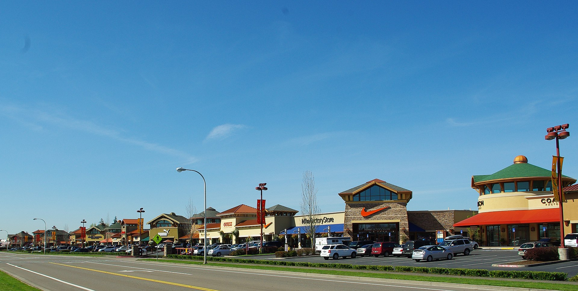 With more than stores, Woodburn Premium Outlets is the largest tax-free outlet center in the West. Big name brands, skylight-covered walkways, and beautiful Northwest architecture and landscaping make this a unique and fun shopping experience year round.