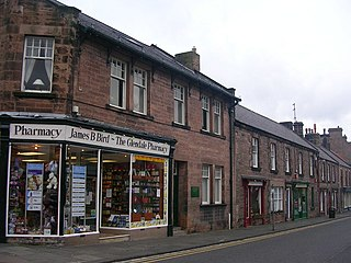Wooler town in Northumberland, England