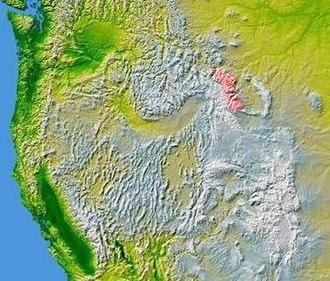 Absaroka Range - Image: Wpdms nasa topo absaroka range