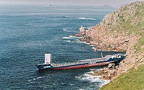 Wreck is the RMS Mulheim off Lands End - geograph.org.uk - 291793.jpg