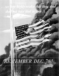 Ww2 pearl harbor resolve poster