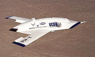 Boeing X-45 experimental unmanned aerial vehicle by Boeing