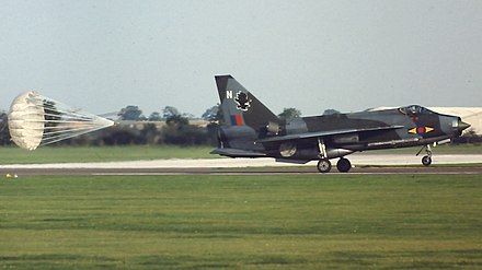 Lightning F.3 of 11 Squadron in 1980 - English Electric Lightning