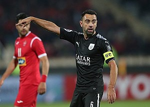 Xavi in Persepolis FC and Al sadd Match.jpg