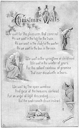 """Cynicus - A satiric Christmas poem by """"Cynicus"""" published in The Idler magazine, December 1892"""
