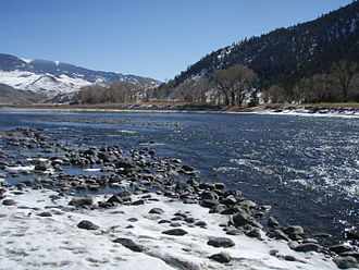 Yellowstone River - Image: Yellowstone River Near Yankee Jim Canyon
