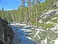 Yosemite Creek. View upstream from the footbridge across the creek just before Yosemite Falls. - panoramio.jpg