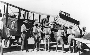 Close air support - The British used air power extensively during the interwar period to police areas in the Middle East.