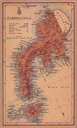 Zamboanga del Norte - Image: Zamboanga province map 1918