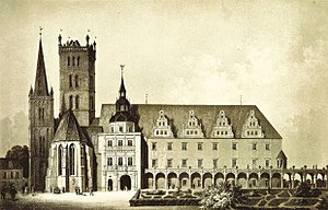 Brzeg Castle - Image: Zamek Piastów w Brzegu front 3