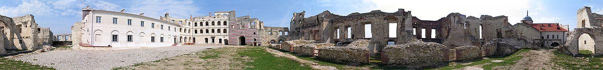 Panorama zamku (360°), zamek w remoncie, stan na marzec 2004