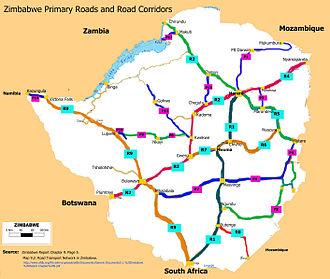 Transport in Zimbabwe - Zimbabwe Primary Roads