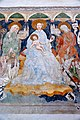 Zweinitz Pfarrkirche hl Egydius Chor S-Wand got Fresko Sacra Conversazione Ausschnitt 22102014 572.jpg